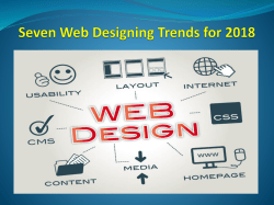 Seven Web Designing Trends for 2018