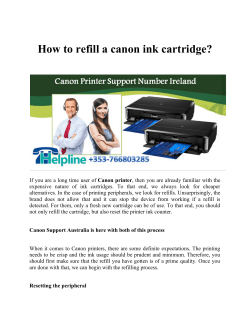 How to refill a canon ink cartridge