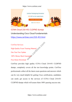 CCNA Cloud 210-451 CLDFND dumps