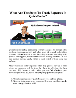 What Are The Steps To Track Expenses In QuickBooks?