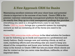 A New Approach CRM for Banks
