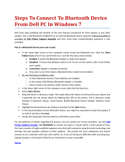 Steps To Connect To Bluetooth Device From Dell PC In Windows 7