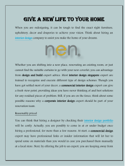 Give a New Life To Your Home