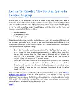Learn To Resolve The Startup Issue In Lenovo Laptop