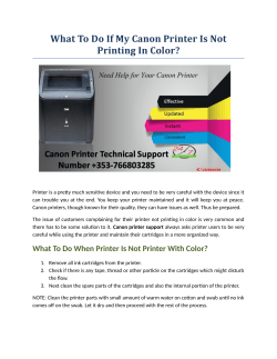 What To Do If My Canon Printer Is Not Printing In Color?