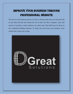 Improve your business through professional website