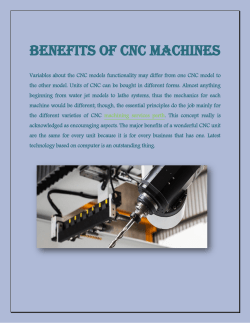 Benefits of CNC Machines