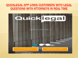 Quicklegal app links customers with legal questions with attorneys in real time