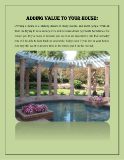 Adding Value To Your House