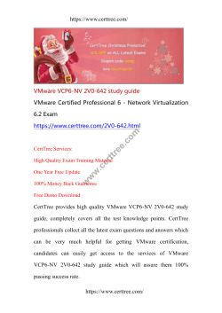 VMware VCP6-NV 2V0-642 study guide