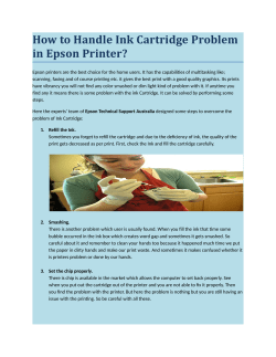 How to Handle Ink Cartridge Problem in Epson Printer?