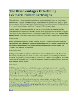 The Disadvantages Of Refilling Lexmark Printer Cartridges
