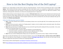 How To Get The Best Display Out Of The Dell Laptop?