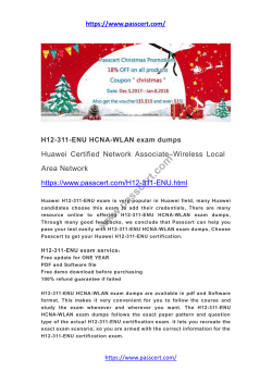 H12-311-ENU HCNA-WLAN exam dumps