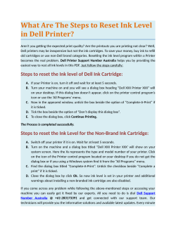 What Are The Steps to Reset Ink Level in Dell Printer?
