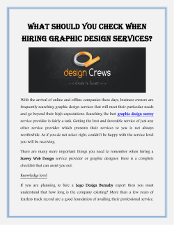 What Should You Check When Hiring Graphic Design Services