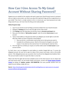How Can I Give Access To My Gmail Account Without Sharing Password