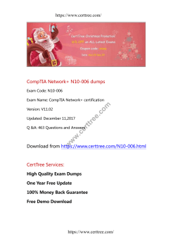 CompTIA Network+ N10-006 dumps