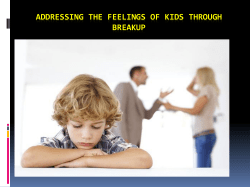 Addressing the feelings of kids through breakup