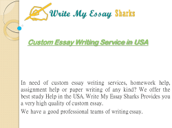 Custom Essay Writing Service USA