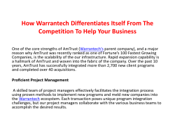 How Warrantech Differentiates Itself From The Competition To Help Your Business