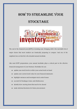 How to streamline your stocktake