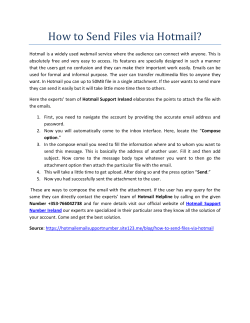 How to Send Files via Hotmail
