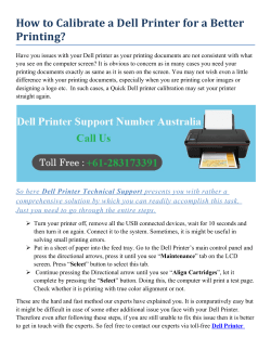 How to Calibrate a Dell Printer for a Better Printing?