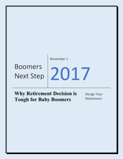 Why Retirement Decision is Tough for Baby Boomers