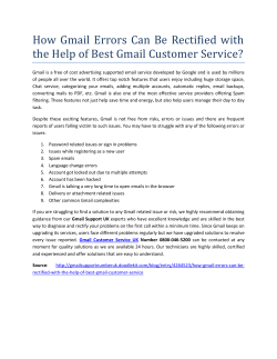 How Gmail Errors Can Be Rectified with the Help of Best Gmail Customer Service