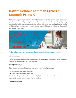 How to Remove Common Errors of Lexmark Printer?