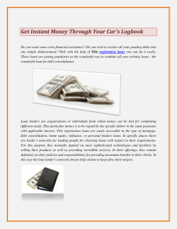Get Instant Money Through Your Car's Logbook