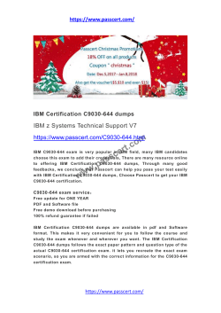 IBM Certification C9030-644 dumps