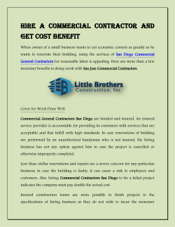 Hire a Commercial Contractor and Get Cost Benefit