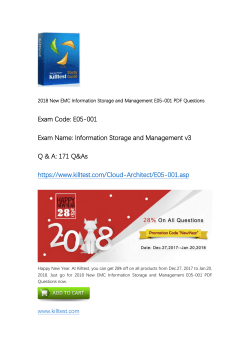EMC Information Storage and Management V3 E05-001 Practice Exam