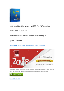 IBM Sales Mastery M9550-752 Practice Exam