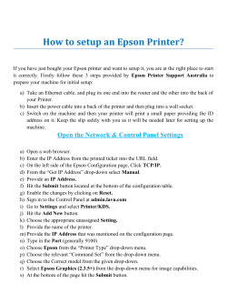 How to setup an Epson Printer?