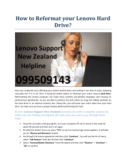 How to Reformat your Lenovo Hard Drive?