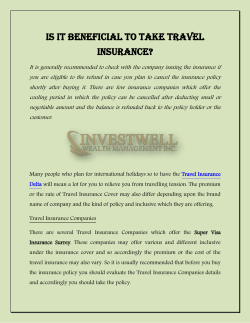 Is it Beneficial to Take Travel Insurance