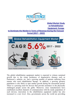 Rehabilitation Equipment Market to Cross US$ 13,400 Mn by 2022