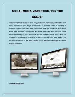 Social Media Marketing, Why You Need It
