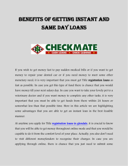 Benefits Of Getting Instant And Same Day Loans