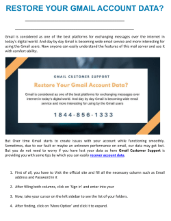 Restore Your Gmail Account Data