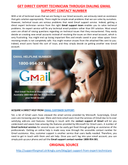 GET DIRECT EXPERT TECHNICIAN THROUGH DIALING GMAIL SUPPORT CONTACT NUMBER