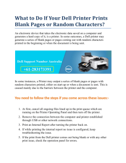 What to Do If Your Dell Printer Prints Blank Pages or Random Characters?