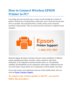 How to Connect Wireless EPSON Printer to PC?