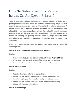 How To Solve Printouts Related Issues On An Epson Printer