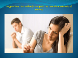 Suggestions that will help navigate the actual uncertainity of Divorce