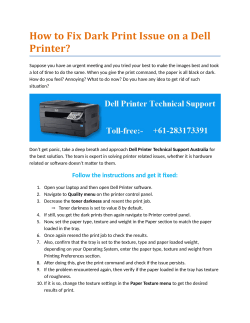 How to Fix Dark Print Issue on a Dell Printer?