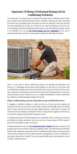Heating and Air Conditioning Repair in Texas